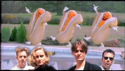 Prefab Sprout mit Mayonnaisen-Melanie und Hotdog-Heiko (Collage: Sophie Euler)