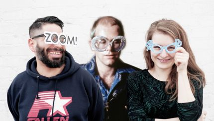 Melanie Gollin, Elton John und Heiko Reusch (Bild: Sophie Euler)